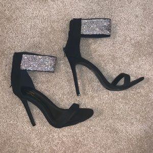 Black Sparkly stilettos